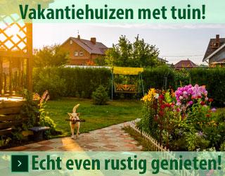 vakantiehuizen met tuin banner