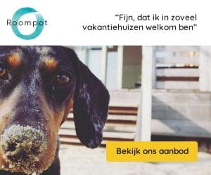 roompot honden welkom banner